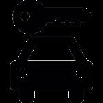 lieferwagenschlüssel-übergabe
